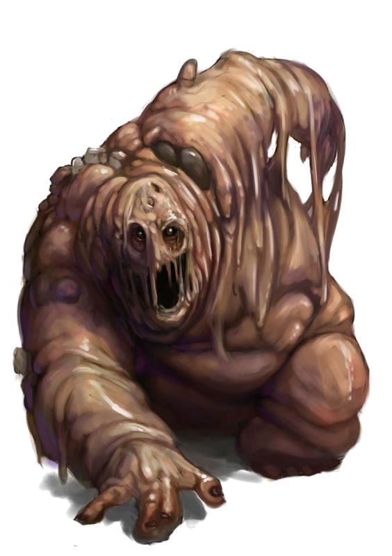 Lêmure - A criatura avança como uma bolha de carne derretida escorrendo pelo chão. Ela possui cabeça e torso com forma humana, mas seu corpo é uma massa amorfa da cintura para baixo. Seu rosto exibe uma expressão permanente de angustia. Um lêmure têm cerca de 1,5 m de altura e pesa em torno de 50 kg.