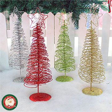 30公分金蔥鐵圈聖誕樹(桌上擺飾) - PChome線上購物 - 24h 購物
