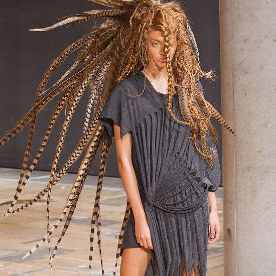 With a heavy head.....Junya Watanabe Spring 2014 Runway Show | Paris Fashion Week
