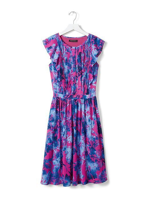 My favorite of all the new #BananaRepublic dresses -- Floral Flutter-Sleeve Dress | Banana Republic