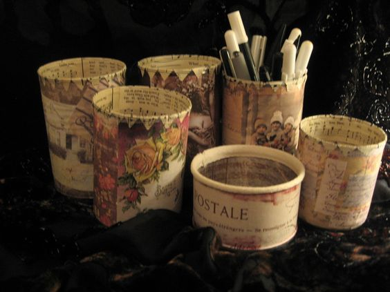 decorated tins