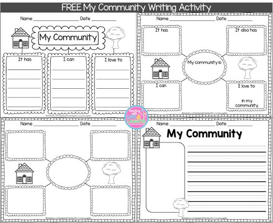 my community writing freebie writing pinterest kindergarten love and social studies. Black Bedroom Furniture Sets. Home Design Ideas