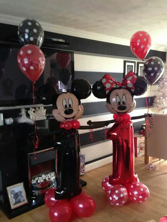 #Minnie and mickey #theme #balloons #bellissimoballoons