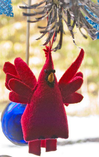 cardinal ornament by Bobbi_Jean, via Flickr