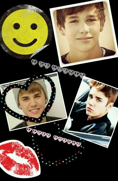 Justin Bieber Austin Mahone pic collage by me