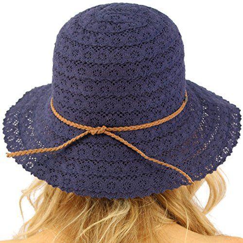 CC Everyday Lace Cloche Summer Derby Beach Pool Bucket Crushable Sun Hat