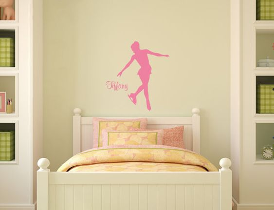 Skater decal-Ice Skater sticker-Personalized decal-25 X 28 inches