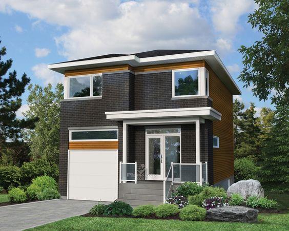 Avec ses fenêtres de style contemporain, son balcon avec garde-corps en verre et son revêtement de briques et de bois, cette maison à étage ne peut qu'attirer le regard. Elle mesure 24 pieds 10 pouces de largeur sur 40 pieds de profondeur, offre une surface habitable de 1 415 pieds carrés et possède un garage de 244 pieds carrés pouvant loger une voiture. <br/>  D'une surface de 622 pieds carrés, le rez-de-chaussée a des plafonds de 9 pieds de haut et comprend un espace à aire ouverte où se…