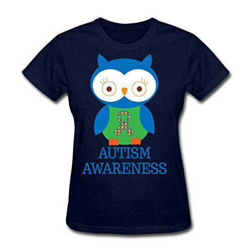 Spreadshirt Women's Autism Awareness Owl T-Shirt, navy, XXL