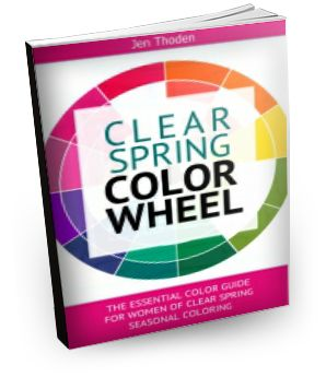 Clear Spring Style Guide - Discover how to wear your clear spring colors through the use of the clear spring color wheel and color combinations. Lots of inspiration! Click to learn more...