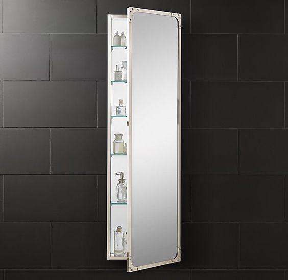 industrial rivet full length medicine cabinet b a t h r o o m pinterest products medicine. Black Bedroom Furniture Sets. Home Design Ideas