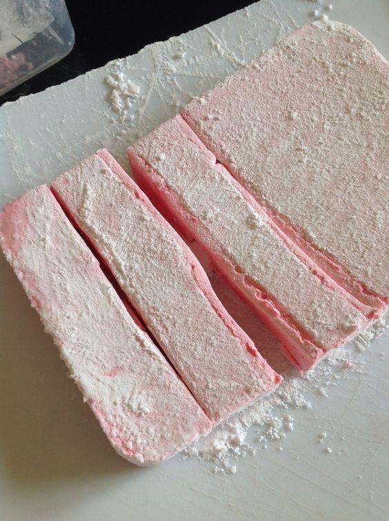 Chamallow ou petites guimauves au thermomix testé avec du sirop pour le parfum