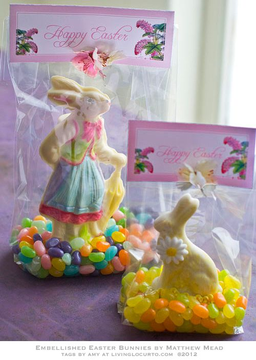 Chocolate Bunny Edible Craft & Free Printable #Easter Tags by LivingLocurto.com