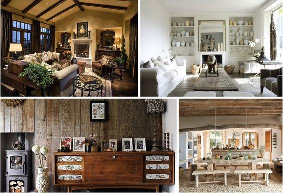 Decoração Rústica. É perfeitamente possível criar uma decoração de interiores atual num estilo rústico, misturando peças de decoração modernas com acabamentos que darão aquele toque à sua casa.