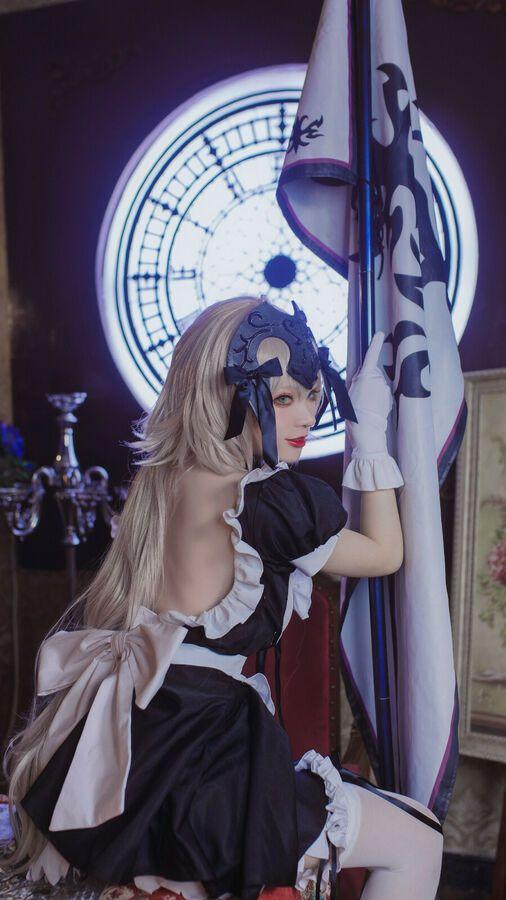 Alter Maid uniform Dress cosplay costume FGO Fate//Grand Order Jeanne d/'Arc