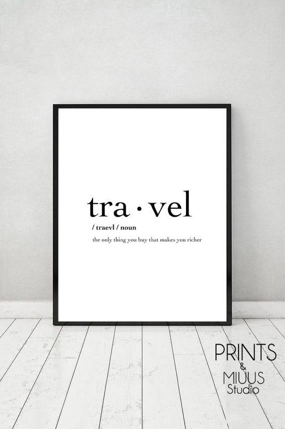 Travel Print Poster Printable Travel by PrintsMiuusStudio on Etsy