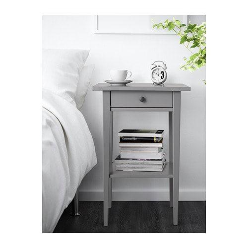 Hemnes Bedside Table Grey 46x35 Cm Hemnes Nightstand Bedside Table Ikea Hemnes Bedside Table