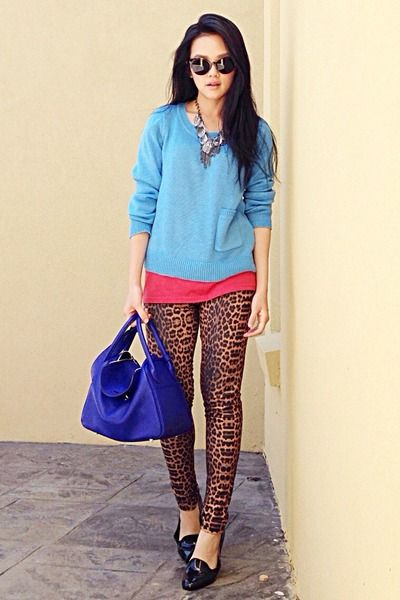ostrich birkin bag - blue lindy Hermes bag - brown leopard print Kmart leggings | Style ...