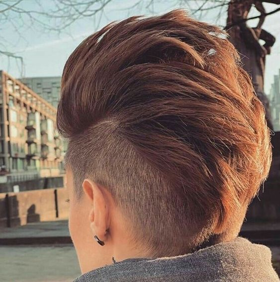 Textured Mohawk, female hairstyles
