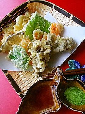 飯テロ・マイタケ天ぷらセット