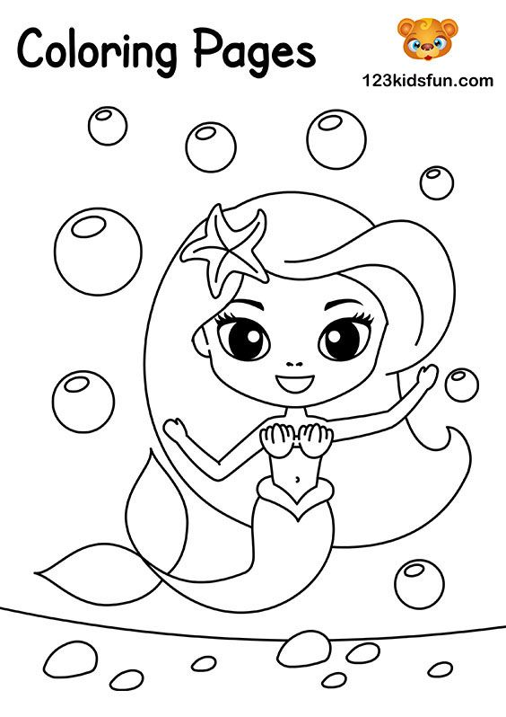 Free Coloring Pages For Girls And Boys 123 Kids Fun Apps Mermaid Coloring Pages Princess Coloring Pages Coloring Pages For Girls