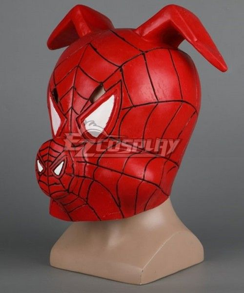Cosplay Spiderman Into the Spider Verse Spider Ham Mask Halloween Mask Prop New