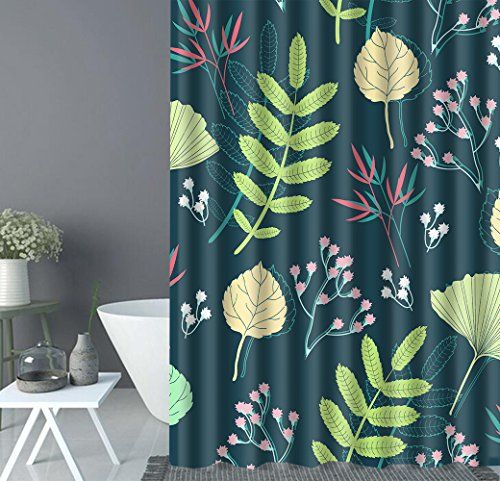 Cartoon Flower Leaves Shower Curtain Liner Milde Https Www
