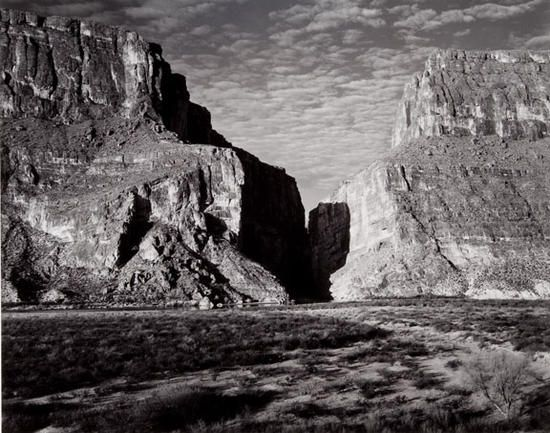 Ansel Adams (1902–1984) Santa Elena Canyon, Big Bend National Park, Texas, 1947 Gelatin silver print, 1975 ©2010 The Ansel Adams Publishing Rights Trust Amon Carter Museum, Fort Worth, Texas