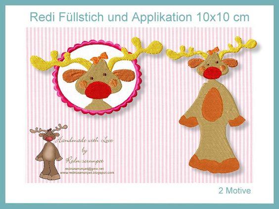 Redi Rentier Applikation 10x10 Weihnachten von Grete vom Ländle auf DaWanda.com