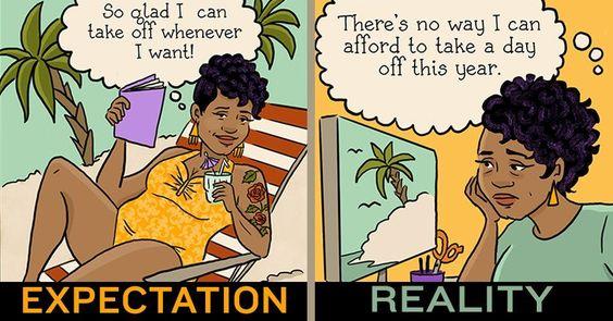 Freelance: Expectations vs Reality #collegehumor #lol