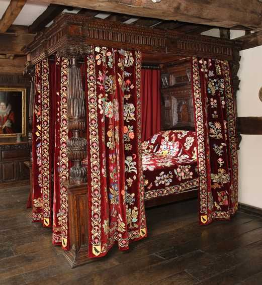 Museums silk and galleries on pinterest for Tudor style bedroom