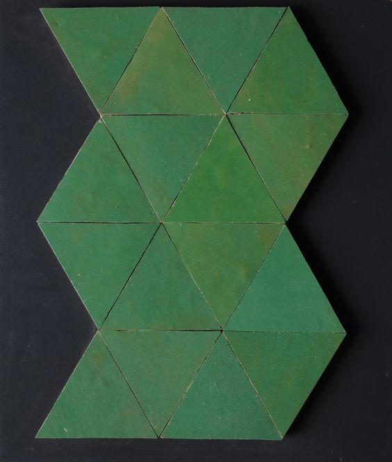 Artistic zellige decoration / triangle tiles: http://www.stonealliance.pro/