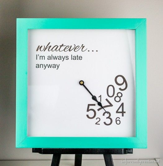 I'm Always Late Anyway Clock