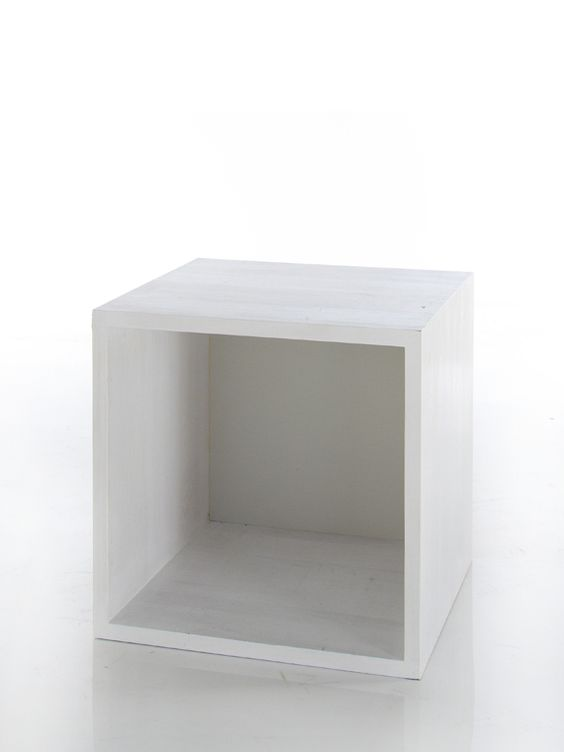 Wooden Cube Shelf (white)