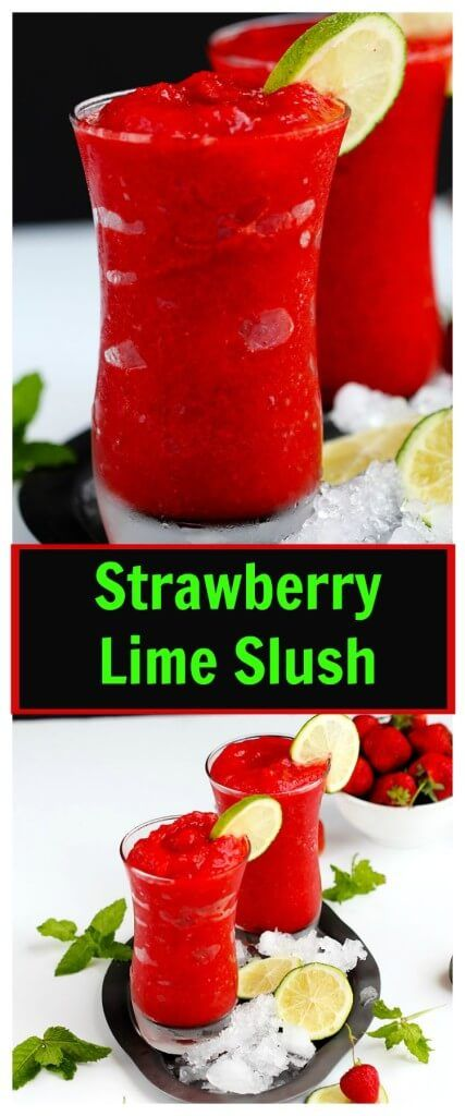 Slushies, Limes and Strawberries on Pinterest