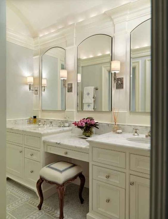 Bathroom Vanity With Makeup Area Google Search Interior Ideas Pinterest Vanities Middle