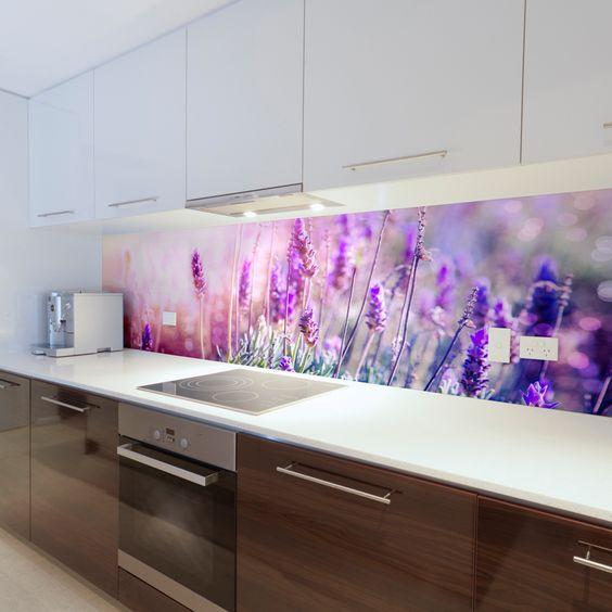Romantyczne wspomnienie wakacji w Twojej kuchni. kitchen glass splashback <3