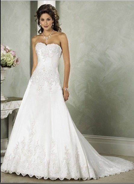 Embellished Aleion Lace Scalloped Edge Wedding Dresses [RL-WD2005] - $240.00 : Roman Love Wholesale Custom Made Wedding Dresses Evening Dres...