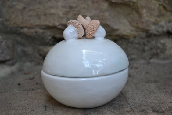 Box acorns made in stoneware  medium size by BolotaCeramic on Etsy