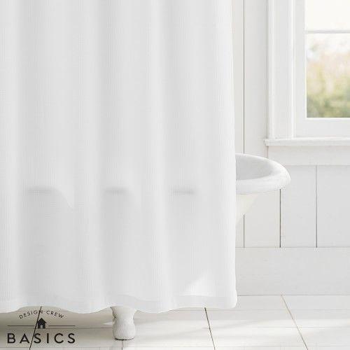 Design Crew Basics Shower Curtain Shower Remodel Shower Curtain