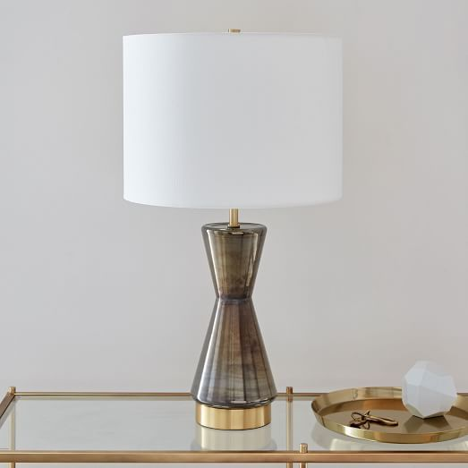 Metalized Glass Table Lamp Usb Large Gray Glass Table Lamp Table Lamp Led Table Lamp