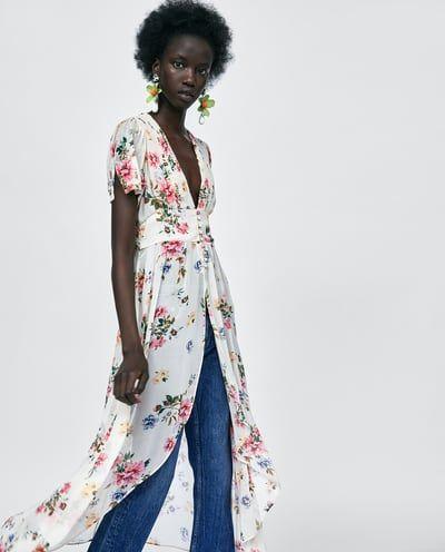 Promoción de ventas gran variedad de estilos entrega rápida Imagen 2 de BLUSA LARGA ESTAMPADO FLORAL de Zara | All about ...