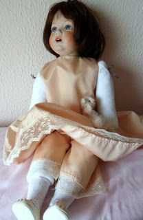 Текстильные игрушки и вышивка.: Кукла -реплика Хильды Кестнера.........1988 год......Моя обожаемая Хильда!!!!!
