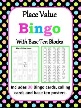 math worksheet : base ten blocks calling cards and bingo cards on pinterest : Math Bingo Worksheets