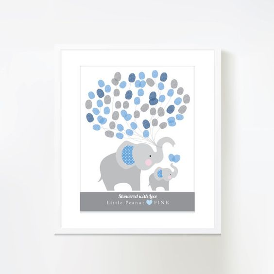 Welcome to Crazy Fox Paper! This printable wall art is a great alternative to a guestbook at your baby shower. Guests leave their fingerprints,
