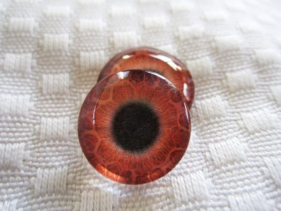 Fantasy glass eyes for dolls sculpture or altered art