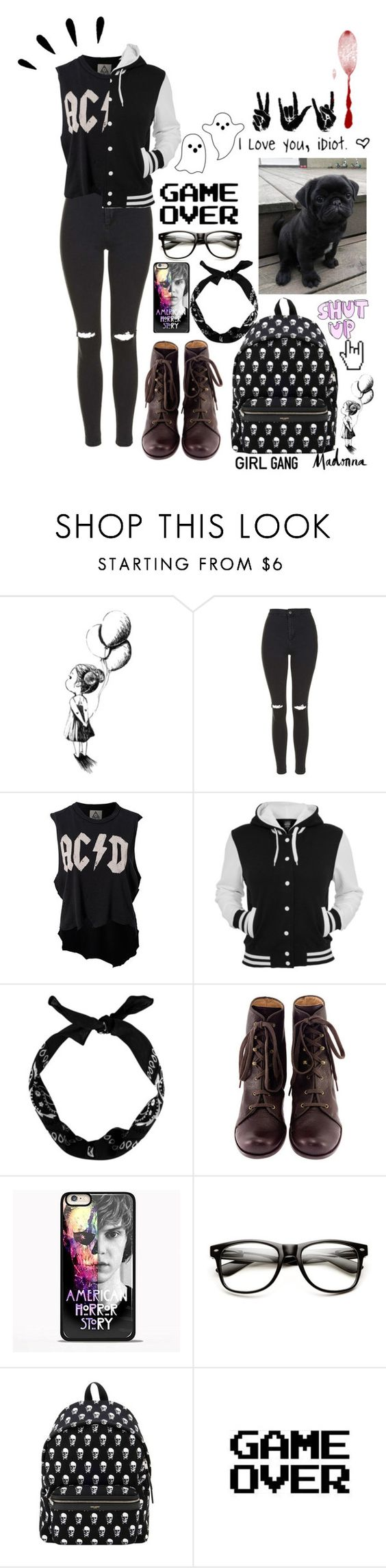 """""""Girl Gang School"""" by thaisa-tcs ❤ liked on Polyvore featuring Topshop, UNIF, Weiss, Chie Mihara, Samsung, Yves Saint Laurent and Old Navy"""