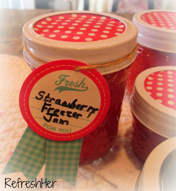 Strawberry Freezer Jam ~ Freshen Up Friday | RefreshHer: