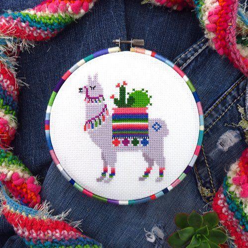 Chart Only Llama Cross Stitch Pattern