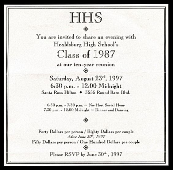 class reunion ideas invitations company reunions class - class reunion invitation template